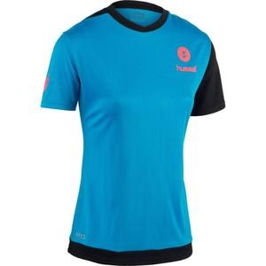 Handballtrikot Campaign Damen blau/schwarz/rosa