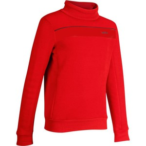 WED´ZE Skipullover Mid Warm 100 Kinder rot, Größe: 8 J. - Gr. 128