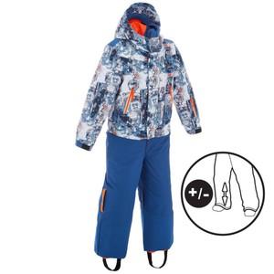 WED´ZE Skianzug 300 Pull´n´Fit Kinder blau Roboter, Größe: 4 J. - Gr. 104