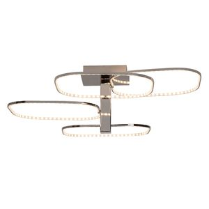 EEK A+, Deckenleuchte Topic - Metall/Kunststoff - Silber - 1-flammig, Brilliant