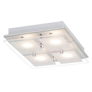 EEK A+, LED-Deckenleuchte World I - Glas / Stahl - 4, Brilliant