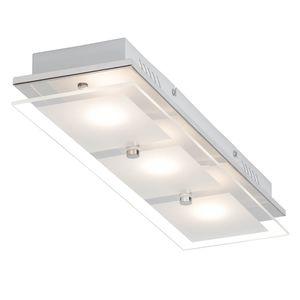 EEK A+, LED-Deckenleuchte World II - Glas / Stahl - 3, Brilliant