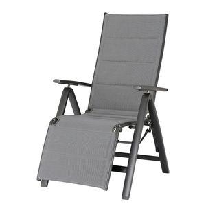 Liegestuhl Varese Relax - Kunststoff / Aluminium - Anthrazit, Best Freizeitmöbel
