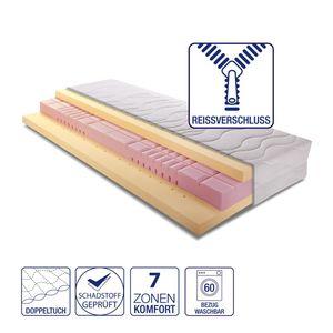7-Zonen Komfort Kaltschaummatratze Memory Premium - 90 x 200cm - H2 bis 80 kg, Breckle
