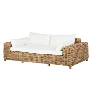 Loungesofa Calla Millor (2-Sitzer) - Polyrattan - Braun/Beige, Ars Natura