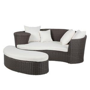 Lounge-Set Paradise Lounge (2-teilig) - Polyrattan - Grau, Fredriks