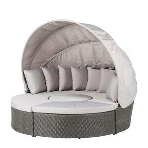 Premium Sonneninsel Paradise Lounge - Polyrattan - Aluminiumrahmen - Grau / Hellgrau, Fredriks