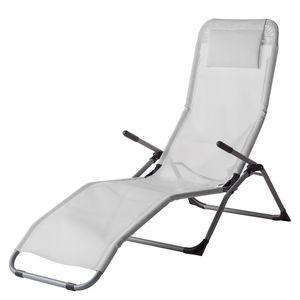 Sonnenliege Summer Sun - Textilene / Aluminium - Weiß, Fredriks
