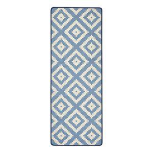 Läufer Raute - Kunstfaser - Blau, Hanse Home Collection