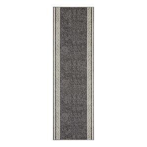 Läufer Floret - Kunstfaser - Grau - 80 x 300 cm, Hanse Home Collection