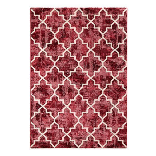 Teppich Elegance Kunstfaser Rot Weiss 200 X 290 Cm Bougari
