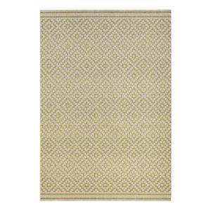 In-/Outdoor-Teppich Raute - Kunstfaser - Grün / Weiß - 140 x 200 cm, Top Square