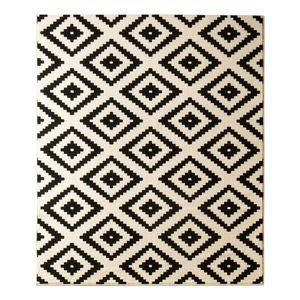 Teppich Raute - Schwarz - 80 x 300 cm, Hanse Home Collection