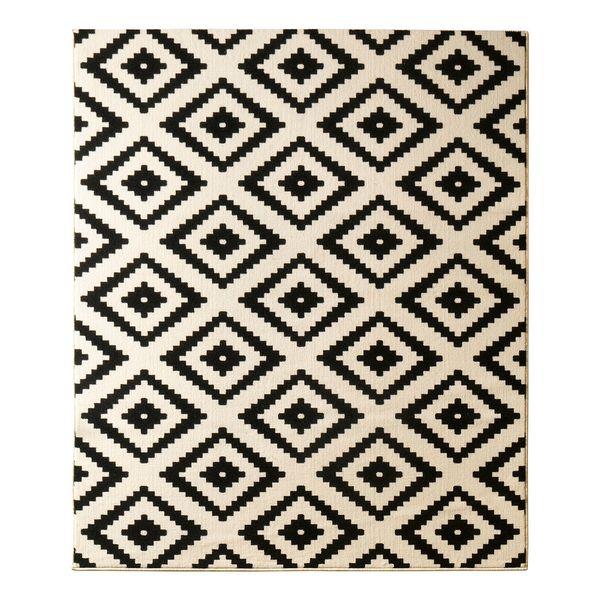 teppich raute schwarz 80 x 300 cm hanse home collection von home24 f r 39 99 ansehen. Black Bedroom Furniture Sets. Home Design Ideas