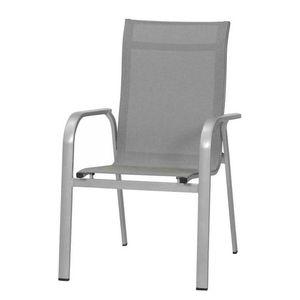 Stapelstuhl Fabulo - Kunstfaser / Aluminium - Grau, Mwh