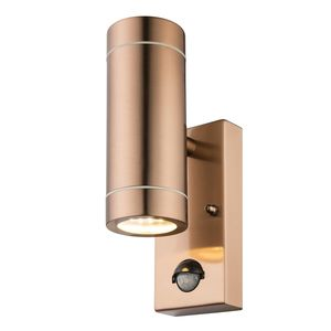 EEK A+, LED-Außenleuchte Perry Shine III - Edelstahl - 2-flammig - Kupfer, Globo Lighting