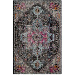 Teppich Alroy - Mischgewebe - Grau / Pink - 121 x 182 cm, Safavieh