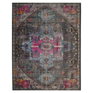 Teppich Alroy - Mischgewebe - Grau / Pink - 200 x 274 cm, Safavieh