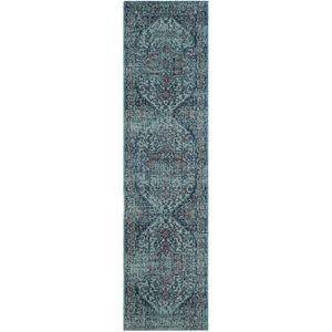 Läufer Ambrosine - Mischgewebe - Hellblau - 66 x 243 cm, Safavieh