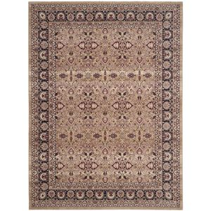 Teppich Catania Area - Mischgewebe - Beige / Weinrot - 200 x 274 cm, Safavieh
