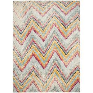 Teppich Giulia - Kunstfaser - Mint / Gelb - 200 x 279 cm, Safavieh