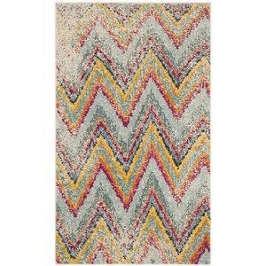 Teppich Giulia - Kunstfaser - Mint / Gelb - 91 x 152 cm, Safavieh