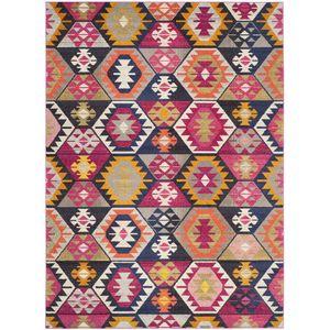 Teppich Enzo - Kunstfaser - Mehrfarbig - 200 x 279 cm, Safavieh