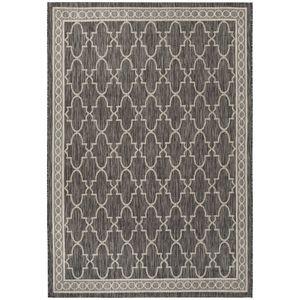 In & Outdoor Teppich Grenada - Kunstfaser - Schwarz / Weiß - 160 x 231 cm, Safavieh