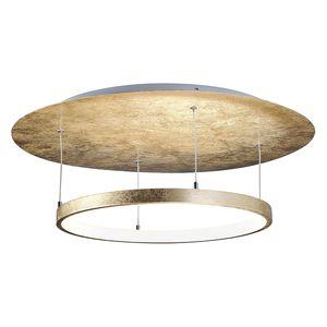 EEK A+, LED-Deckenleuchte Nevis Leaf II - Kunststoff / Stahl - 1-flammig - Weiß / Gold, Paul Neuhaus