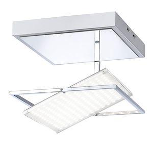 EEK A+, LED-Deckenleuchte Fantino - Glas / Stahl - 1-flammig - 25.5, Paul Neuhaus