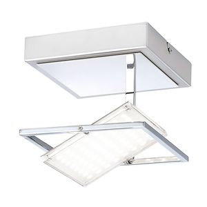 EEK A+, LED-Deckenleuchte Fantino - Glas / Stahl - 1-flammig - 18, Paul Neuhaus