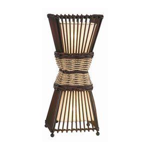 EEK A++, Tischleuchte Bamboo - 2-flammig, Nino Leuchten
