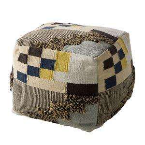 Pouf Malcata - Baumwollstoff - Beige / Grau, mooved