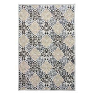 In-/Outdoorteppich Sibin - Kunstfaser - Gelb / Blau - 140 x 200 cm, ars manufacti