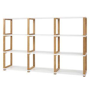Regal Art II - Eiche teilmassiv - Eiche / Weiß - 118 cm, Tenzo