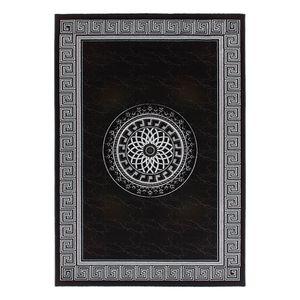 Aura 776 - 70% Polyester, 30% Modacryl Schwarz - 120 x 170 cm, Kayoom