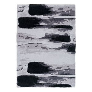 Teppich Verona II - Kunstfaser - Schwarz / Grau - 160 x 230 cm, Astra
