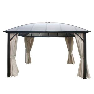 Kuppeldachpavillon Cocos I - Aluminium/Kunststoff - Anthrazit/Beige, Leco