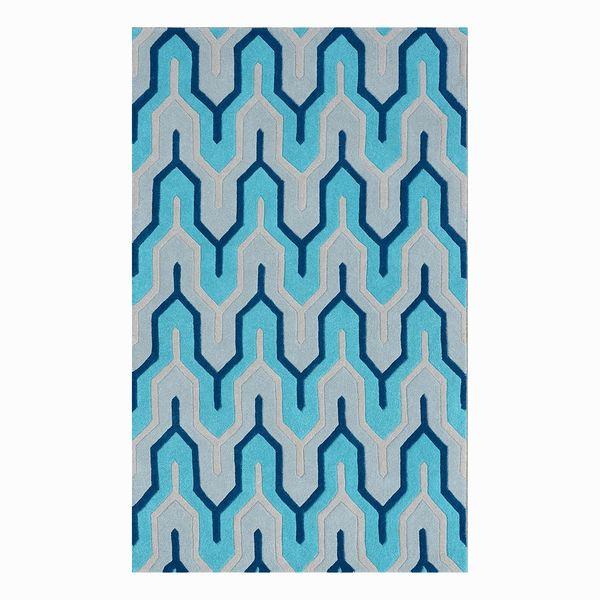 Teppich Flagging I Wolle Blau Morteens Von Home24 Ansehen