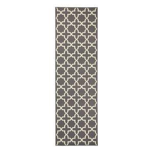 Läufer Glam - Kunstfaser - Grau - 80 x 200 cm, Hanse Home Collection