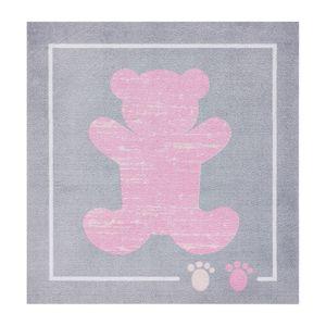 Kinderteppich Teddybär - Kunstfaser - Rosa, Zala Living