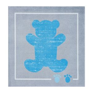 Kinderteppich Teddybär - Kunstfaser - Hellblau, Zala Living