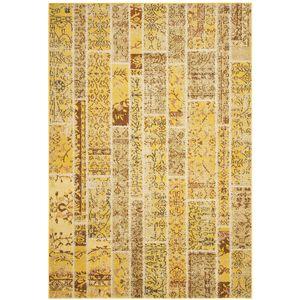 Teppich Effi - Kunstfaser - Gelb / Creme - 121 x 170 cm, Safavieh