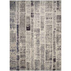 Teppich Effi - Kunstfaser - Sand / Grau - 200 x 279 cm, Safavieh