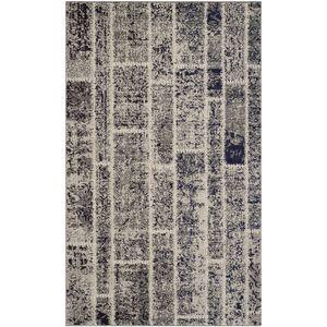 Teppich Effi - Kunstfaser - Sand / Grau - 91 x 152 cm, Safavieh