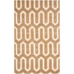 Teppich Leta handgetuftet - Wolle - Orange / Cremeweiß - 121 x 182 cm, Safavieh
