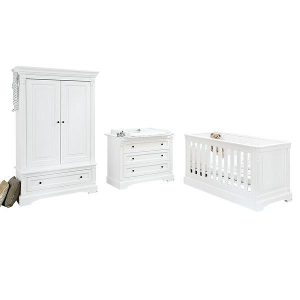 Babyzimmerkombination Emilia (3-teilig) - Weiß, Pinolino