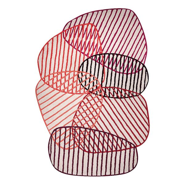 Teppich Graphic Jungle - Kunstfaser - Rot - 170 x 240 cm, Esprit Home