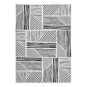 Teppich Graphics - Kunstfaser - Schwarz / Weiß - 200 x 290 cm, Esprit Home
