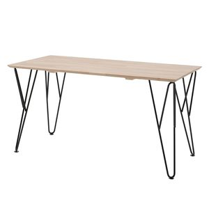 Schreibtisch William - Birke massiv / Kiefer massiv, Vipack